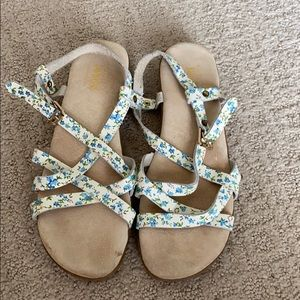 Anthropologie leather strapy sandals